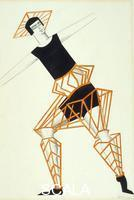 Exter, Alexandra (1882-1949) Costume design for a male character in Aelita: Queen of Mars. 1924