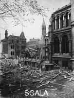 ******** Bomb damage, University College, Shakespeare Street, Nottingham, Nottinghamshire, 1941. This damage was caused in a German raid during the night of 8th-9th May 1941, the worst air raid suffered by Nottingham during World War II.