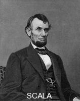 Jackman William G. (att. 1841-1860 ca.) Abraham Lincoln, 16th President of the United States, 19th century. Lincoln (1809-1865) joined the Republican party in 1858 and was elected president two years later. In 1863, he proclaimed the emancipation of all slaves in the southern Confederate states and later that year restated his anti-slavery views in the Gettysburg Address. During his 1864 campaign for re-election, he embraced the abolition of slavery. He was infamously shot by actor John Wilkes Booth whilst attending the theatre in 1865.