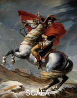 David, Jacques Louis (1748-1825), copia Le Premier Consul Napoleon Bonaparte (1769-1821) franchissant les Alpes au col du Grand Saint-Bernard en mai 1800. 19eme siecle