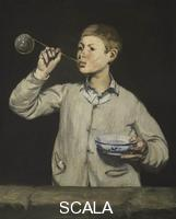 Manet, Edouard (1832-1883) Boy Blowing Bubbles, 1867