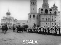 ******** Tsar Nicholas II reviewing the parade of the pupils of Moscow in the Kremlin, Russia, 1912. Found in the collection of the Russian State Film and Photo Archive, Krasnogorsk.