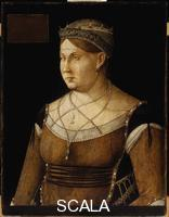 Bellini, Gentile (1429-1507) Caterina Cornaro, Queen of Cyprus, c.1500