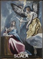 El Greco (Theotokopulos, Domenico 1541-1614) The Annunciation