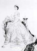 Beaton, Cecil (1904-1980) Sketch of Queen Elisabeth at her Coronation. UK, 1953