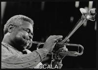 ******** Dizzy Gillespie peforming with the Royal Philharmonic Orchestra, Royal Festival Hall, London 1 November 1985.