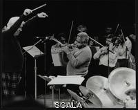 ******** Dizzy Gillespie playing with the Royal Philharmonic Orchestra, Royal Festival Hall, London, 1 November 1985. The conductor is Robert Farnon and Martin Drew is on drums.