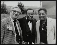******** Dennis Matthews, Managing Director of Crescendo International, with Lionel Hampton and Dizzy Gillespie at the Capital Radio Jazz Festival, London, July 1979.