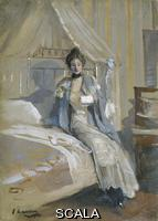 ******** The letter, 1900-1908. Artist: Sir John Lavery.