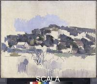 Cezanne, Paul (1839-1906) Houses on the Hill, 1900-06.