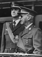 ******** General Franco (1892-1975) with Prince Juan Carlos (b1938), Madrid, Spain, 1973.
