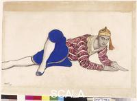Bakst, Leon (1866-1924) Costume design for Vaslav Nijinsky as the Chinese Dancer in Les Orientales. 1917