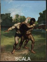 Courbet, Gustave (1819-1877) The Wrestlers, 1853