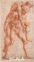 Raffaello (1483-1520) Young Man Carrying an Old Man on His Back (Aeneas and Anchises), ca 1514.