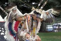 ******** Eagle Dancer, Vincent Davis (Hopi-Choctaw) demonstrates the beautiful eagle dance of the Southwest pueblos with graceful swoops using eagle feather wings