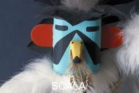 ******** Hopi kachina dancer mask made with cottonwood and painted to represent an eagle dancer