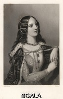 ******** Isabelle de France - Isabella of Valois, second wife of King Richard II of England. Steel engraving by W.H. Mote after a portrait by Edward Corbould from Mary Howitt's Biographical Sketches of The Queens of England, Virtue, London, 1868. Â