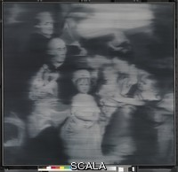 Richter, Gerhard (1932-) Familie nach altem Meister. Gemaelde , oel auf Leinwand (1965) von. Gerhard Richter [1932 -]. Bildmass 147 x 155 cm. Inventar-Nr.: UAB 363. Person: Gerhard Richter [1932 -], Deutscher Maler.  Commercial use only after consultation!.