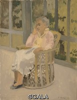 Porter, Fairfield (1907-1975) The Artist's Wife. 1954. Oil on canvas. 22 x 16 15/16 in. (55.9 x 43.1 cm). Anonymous Gift. N. Inv. : 89.26