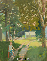 Porter, Fairfield (1907-1975) The Garden Road. 1962. Oil on canvas. Overall: 62 1/8 × 48in. (157.8 × 121.9 cm). Gift of The Greylock Foundation. Inv. N.: 62.55
