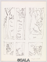 Porter, Fairfield (1907-1975) Study for the Door to the Woods. c. 1972. Pen and ink on paper. Sheet: 14 x 10 1/2in. (35.6 x 26.7cm). Gift of Alex Katz. Inv. N.: 77.63a-b