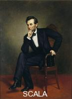 Healy, George Peter Alexander (1813-1894) Ritratto di Abraham Lincoln, 1887