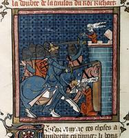 ******** Capture of Acre. Royal 16 G. VI, f.352v