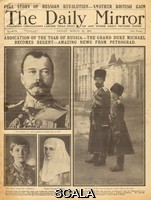 ******** Abdication of Russian Tsar, Nicholas II, WW1 Abdication of the Russian Tsar, Nicholas II, as reported on the front page of the Daily Mirror.  Daily Mirror, 16 March 1917 1917