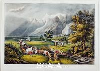 Currier and Ives (sec. XIX) Rocky Mountains