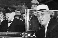 ******** Franklin D Roosevelt e Winston Churchill si incontrano in Quebec, Canada, 1944.