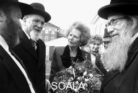 Nathan John (sec. XX) Margaret Thatcher with Jewish elders, Stoke Newington, London, 1995.