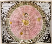 ******** Copernican sun-centred (heliocentric) system of the universe, 1708.