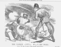 Tenniel, John (1820-1914) 'The Yankee Fireman keeps his Word', 1866.