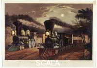 Currier and Ives (sec. XIX) Treni 'Lightening Express', i
