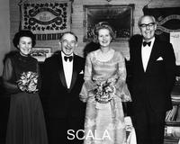 ******** Margaret Thatcher (1925- ), Dennis Thatcher, Dr and Mrs Conway at ladies' night, 1975.
