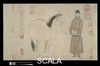 Chao Mengfu (Zhao Mengfu 1254-1322), Zhao Yong (1289-post 1360) e Zhao Lin (att. seconda meta' sec. XIV) Grooms and Horses, by Three Generations of the Zhao Family, dated 1296 and 1359