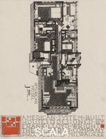 Wright, Frank Lloyd (1867-1959) American System-Built Houses for The Richards Company, project. Isometric plan of model J900. Milwaukee, Wisconsin, 1917