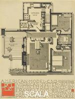 Wright, Frank Lloyd (1867-1959) American System-Built Houses for The Richards Company, project. Plan of model C3. Milwaukee, Wisconsin, 1917